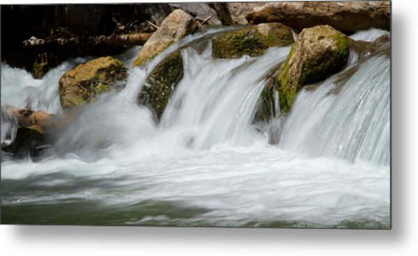Waterfall - Zion National Park Metal Print
