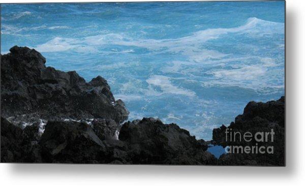 Wave - Vague - Ile De La Reunion - Reunion Island Metal Print by Francoise Leandre