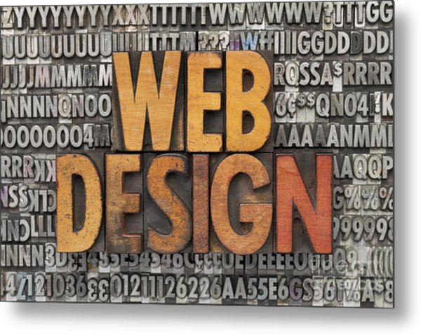 Web Design Metal Print