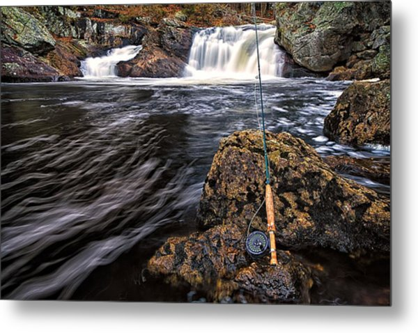 Metal Print featuring the photograph 1 Weight On The Isinglass. by Jeff Sinon