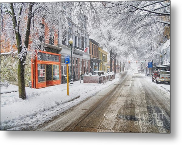 West Chester Pa 17 In Snow 7 Metal Print