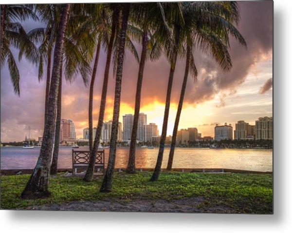 West Palm Beach Skyline Metal Print