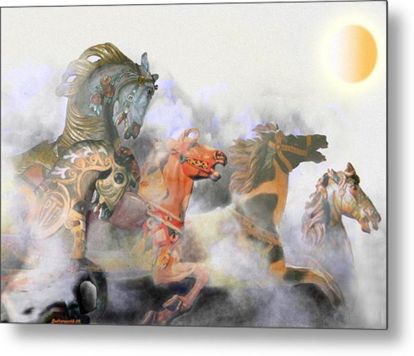 Wild Horses Metal Print by Larry Butterworth