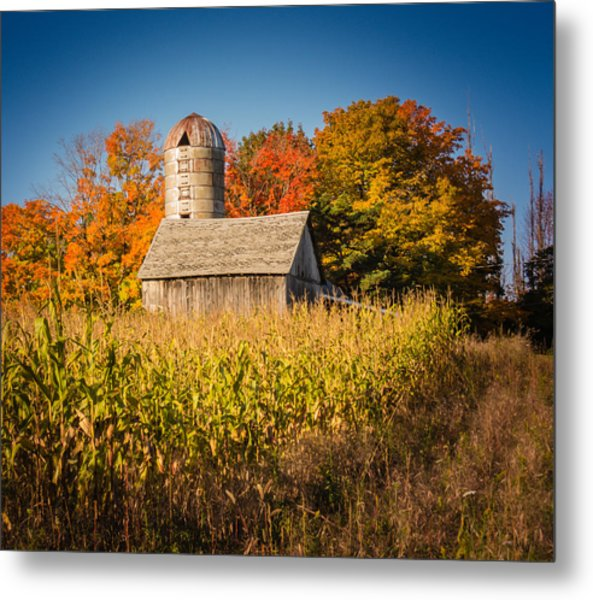 Wildwood Farm In Fall Metal Print
