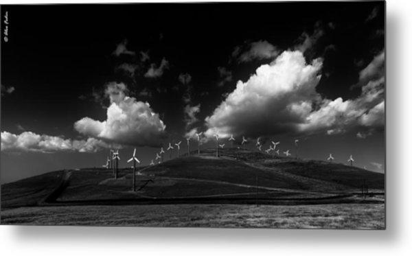 Windmill Electric Power Station Metal Print