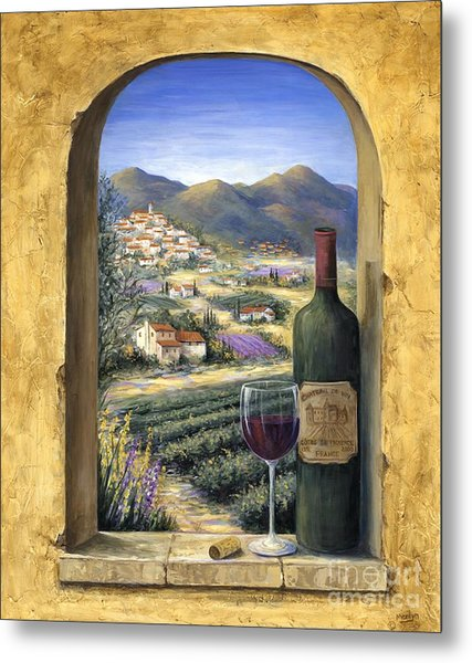 Wine And Lavender Metal Print