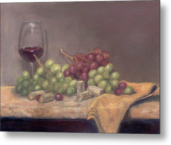 Wine Tasting Metal Print by Ellen Minter