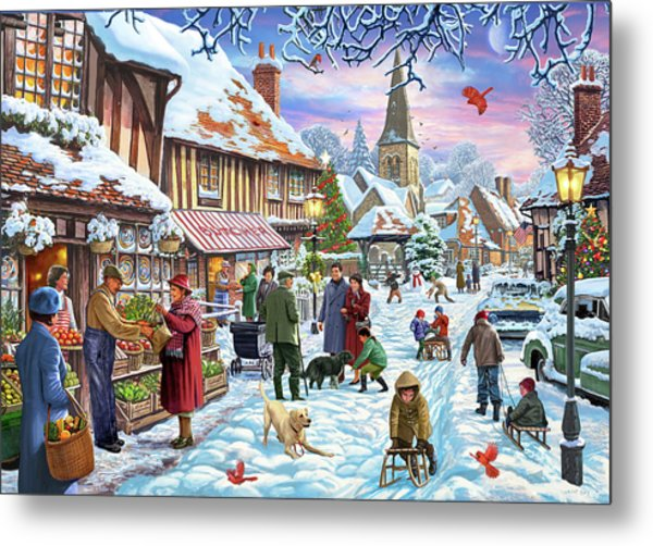 Winter Village Usa Metal Print