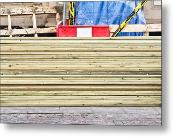 Wooden Planks Metal Print