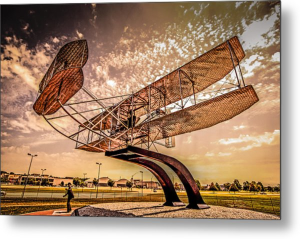 Wright Flyer At Sunset Metal Print
