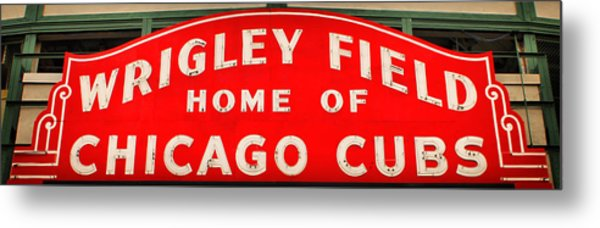 Wrigley Field Sign Metal Print