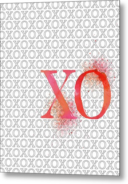 Xo Metal Print by Amy Cummings