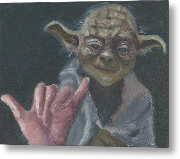 Y Is For Yoda Metal Print