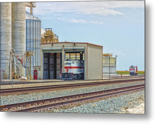 Foster Farms Locomotives Metal Print