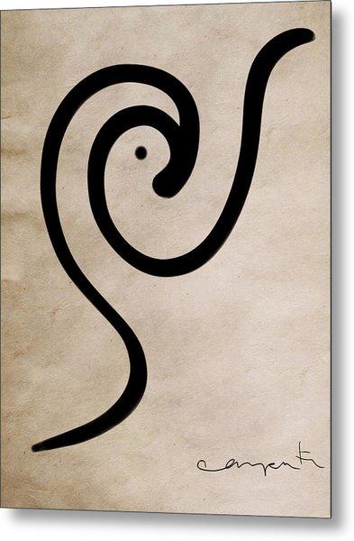 Zen Bird Metal Print