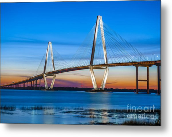 Charleston Arthur Ravenel Bridge Metal Print