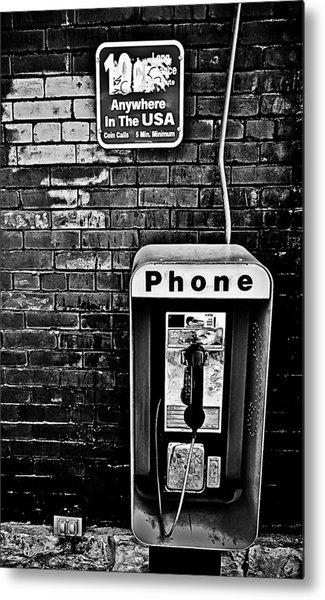 10 Cent Phone Call Metal Print
