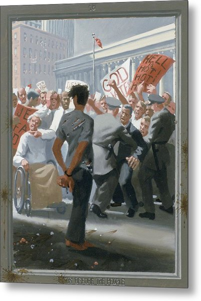 10. Jesus Before The People / From The Passion Of Christ - A Gay Vision Metal Print by Douglas Blanchard