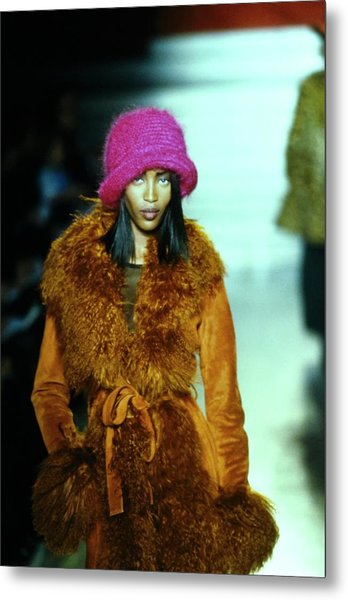 Naomi Campbell On A Runway For Anna Sui Metal Print