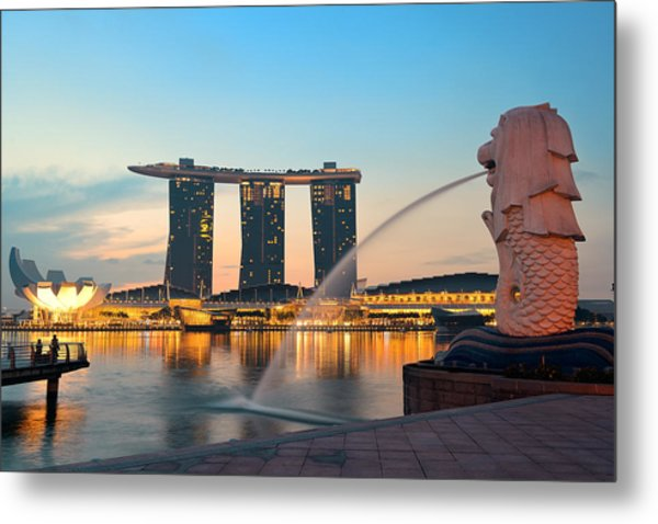 Singapore Skyline Metal Print by Songquan Deng
