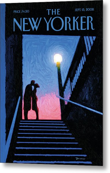 New Yorker Moment Metal Print
