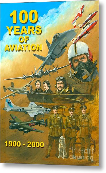 100 Years Of Aviation Metal Print by Michael Swanson