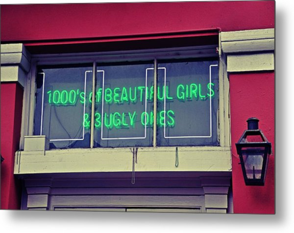 1000's Of Beautiful Girls Sign  Metal Print