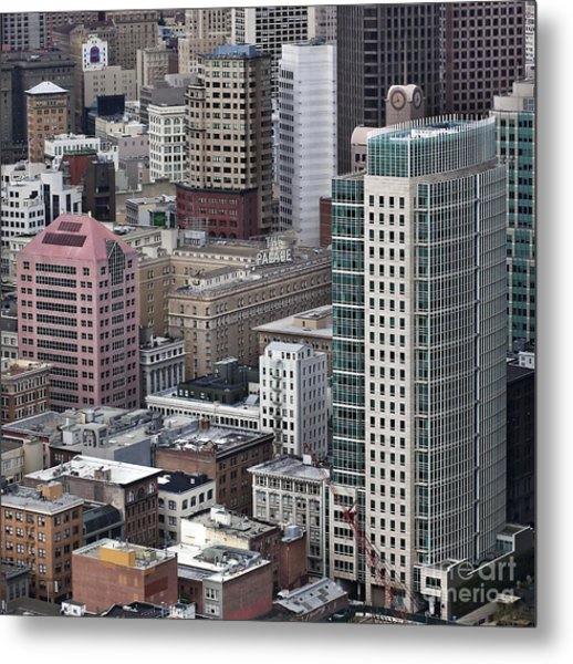 101 2nd Street Tower And The Palace Hotel In San Francisco Metal Print by Adrian Mendoza