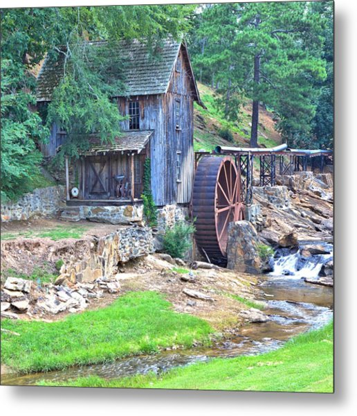 Sixes Mill On Dukes Creek - Square Metal Print