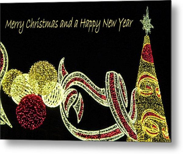 106 - Malaga Christmas Lights   Metal Print by Patrick King