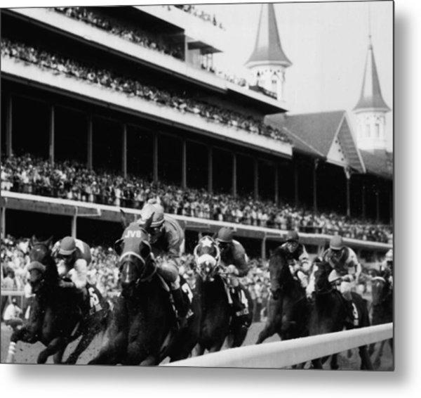 Kentucky Derby Horse Racing Metal Print