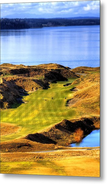 10th Hole At Chambers Bay Metal Print