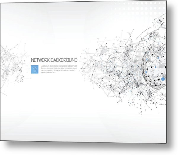 Abstract Network Background Metal Print by AF-studio