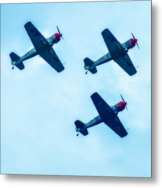 Metal Print featuring the photograph Action In The Sky During An Airshow by Alex Grichenko
