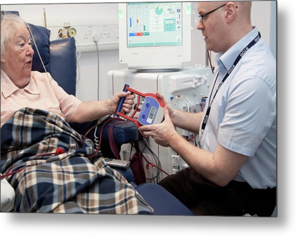 Dialysis Unit Metal Print by Life In View/science Photo Library