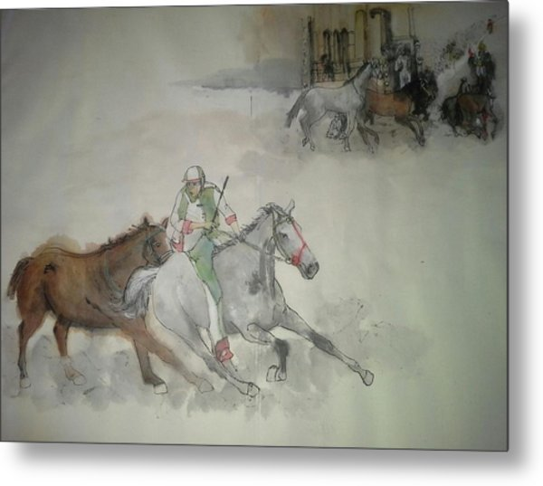 Italian Il Palio Horse Race Album Metal Print by Debbi Saccomanno Chan