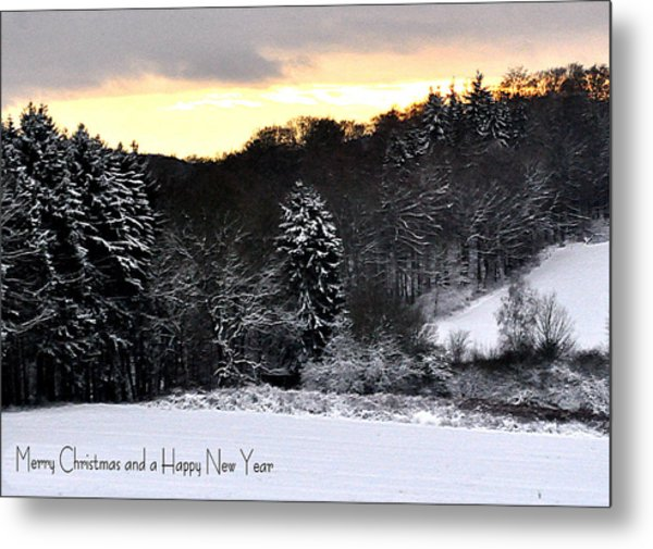 110 Snowscape Metal Print by Patrick King
