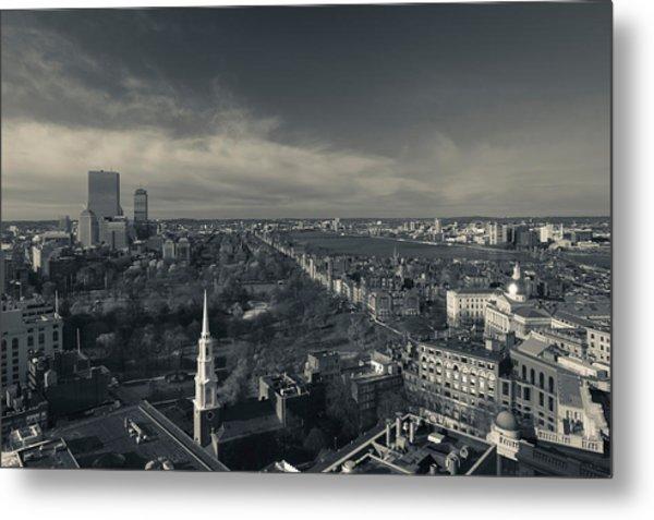High Angle View Of A City Metal Print