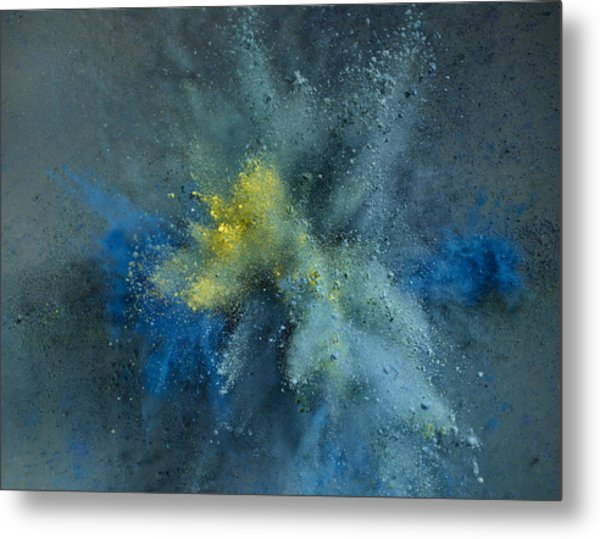 Powder Explosion Metal Print by Sunny