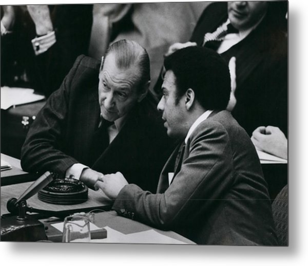 Un Security Council Meeting Metal Print by Retro Images Archive