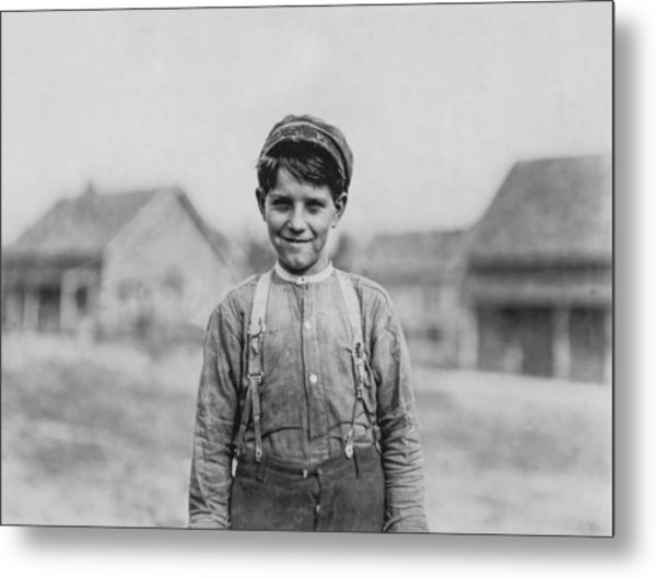 12 Year Old Mill Worker Metal Print