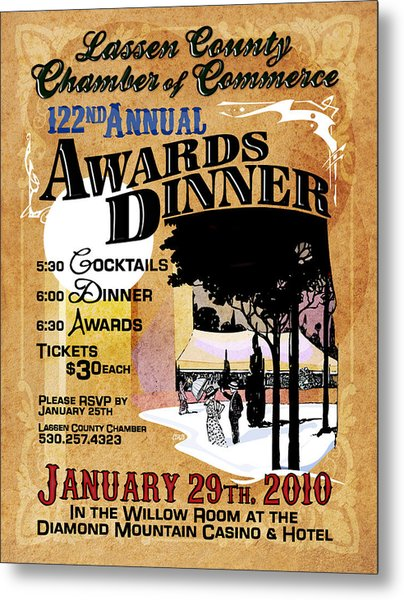 122nd Annual Awards Dinner Metal Print