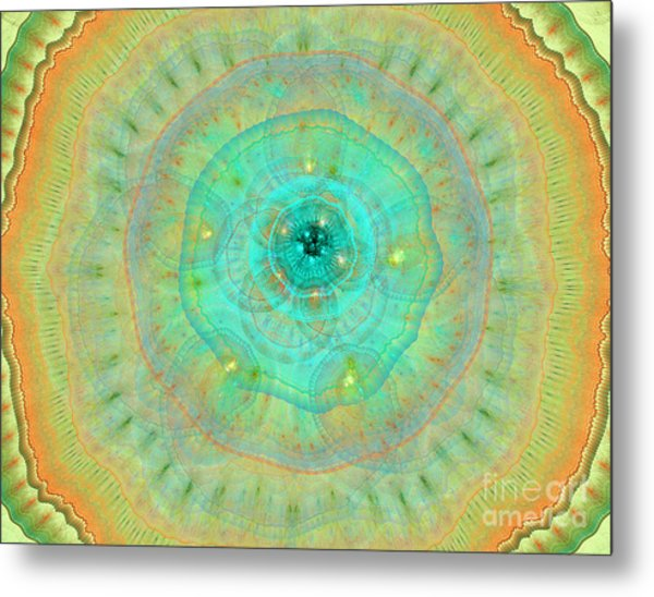 Colorful Abstract Forms Metal Print by Odon Czintos