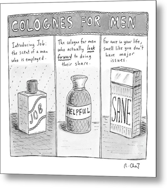 Colognes For Men Metal Print