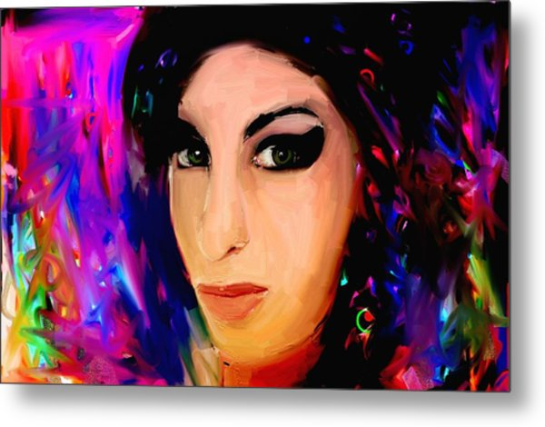 Amy Winehouse Metal Print by Bogdan Floridana Oana