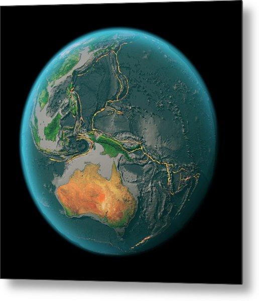 Global Tectonics Metal Print by Karsten Schneider/science Photo Library
