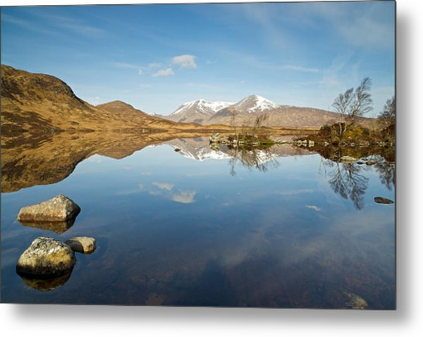 Lochan Na H-achlaise Metal Print by Stephen Taylor