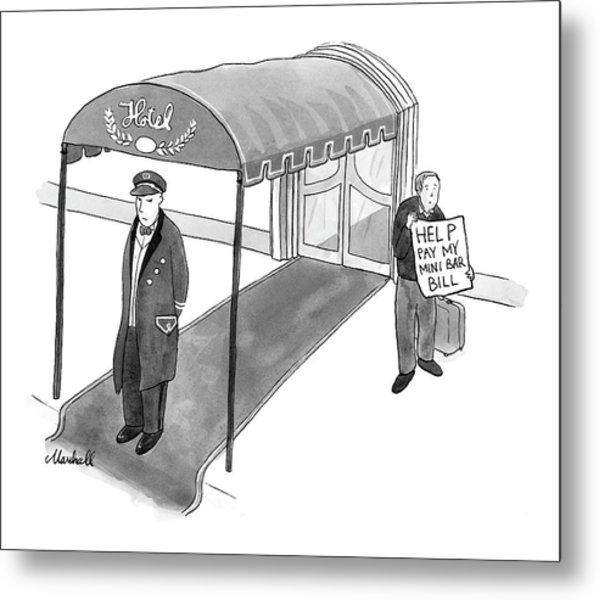 New Yorker February 28th, 2005 Metal Print