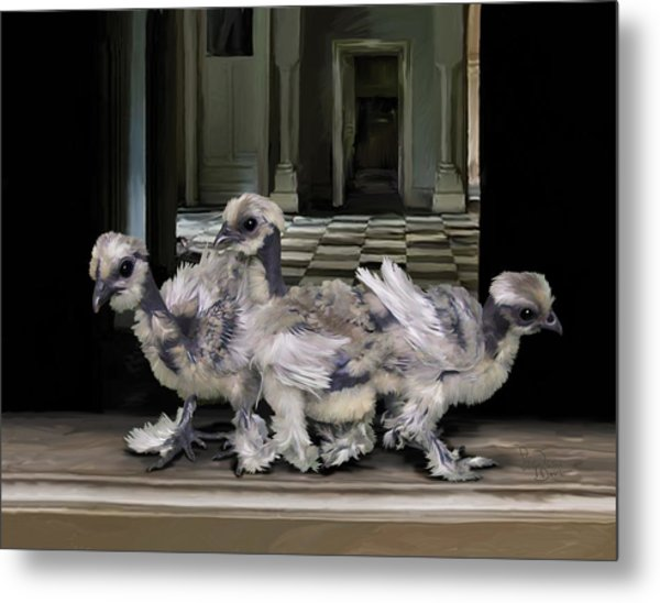 15. Lizard Chicks Metal Print