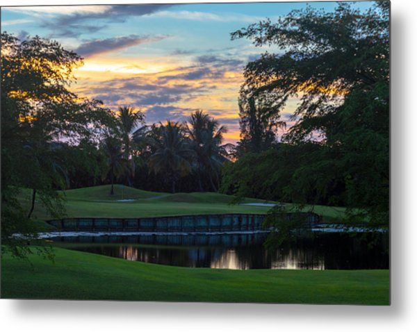 15th Green At Hollybrook Metal Print